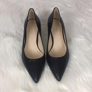 Nine West Leather Kitten Heels Shoes Size 7.5
